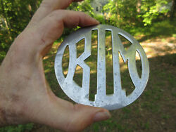 1906 1907 B.l.m. Automobile Radiator Emblem Badge The Only One Anywhere