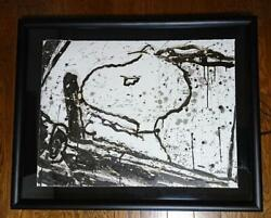 Tom Everhart Snoopy Lithograph Monday Morning With Postcard Only350 Rare