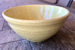 Bauer Speckled Pastel Yellow Ringware 18 Pottery Medium Mixing Bowl