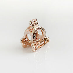 New Authentic Pandora Charms 925 ALE Sterling Silver Pink Rose Gold Bead Pendant