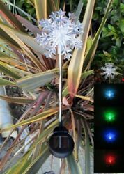 Solar Stake Garden Light Snowflake Brand New With Tags Beautiful Only 2 Left
