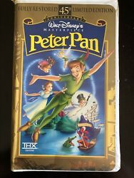Walt Disney Masterpiece Peter Pan Vhs, 1998, 45th Anniversary Limited Edition