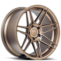 4ea 20x9/20x10 Staggered Ferrada Wheels F8-fr6 Matte Bronze Rimss1