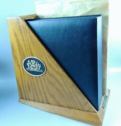Assorted Cigar And Tobacco Operation Related Booklets/manuals On Wood Folder Stand