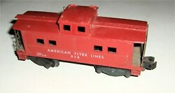 Vintage American Flyer Lines 938 Caboose, A.c. Gilbert, Red