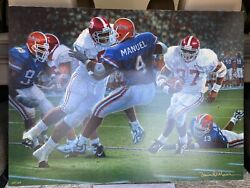 Daniel Moore Andldquorebirth In The Swampandrdquo Canvas Edition 66/124 Alabama Football Rare