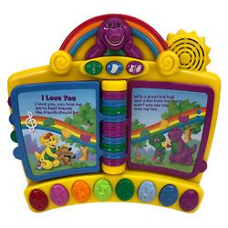 Barney Piano Musical Toy Nursery Rhymes Book Interactive 2001 Mattel Tested