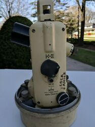 Vintage U.s. Navy Keuffel And Esser Theodolite Surveying Directional With Case