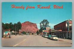 Howdy From Kanab Utahvintage Kane County Ut Utoco Gas Stationdairy Queen 1960s