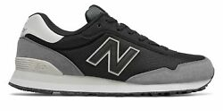 New Balance Men#x27;s 515 Shoes Black with Grey