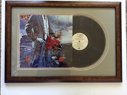 Yes Signed Lp By Jon Rick Steve Allen Chris Tormato Framed And Matted