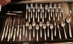 Reed And Barton Silver Sculpture 925 Sterling Silver 38 Piece Flatware Set