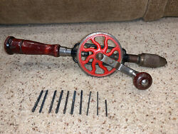 Antique Vintage No.2 Hand Drill Millers Falls Co Made Usa Tool Egg Beater