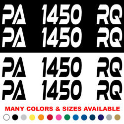 Custom Boat Registration Numbers Jet Ski Letters Decals Set Of 2 3 X 18 Xe