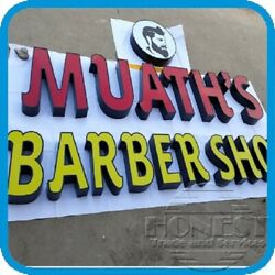 15in Channel Letter Barber Shop Sign With Led And Power Supplycustom Made
