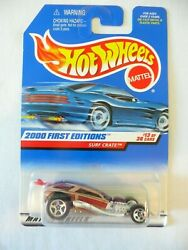 Hot Wheels 2000 First Editions Surf Crate 13/36 Purple Wood 073 Diecast 164 New