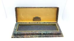 Antique Vtg Art Deco Helbros Mens Wrist Watch Box Only Display Case Jewelry Ny