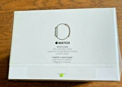 Apple Watch First Generation 42mm Stainless Steel w Leather Loop SEALED