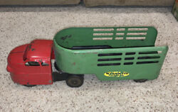 Rare Vintage Wyandotte Express Cattle Truck And Trailer Pressed Steel Toy