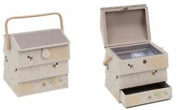 Large Bee Hive Design Sewing Basket Sewing Box With Drawer - Hobbygift - Gift