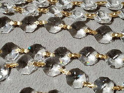 Clear Octagon Crystals Shine Glass Chandelier Lamp Prisms Hanging Parts 483 Lot