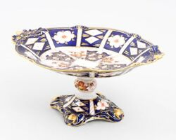 Royal Crown Derby And039traditional Imariand039 Bone China Oval Compote Dish 2451