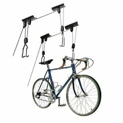 Great Working Tools Bike Hoists Set Of 2 Hanging Ceiling Mount Ladder Lifts New