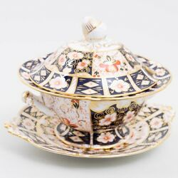 Royal Crown Derby 'traditional Imari' Bone China, Tureen W Lid And Underplate 2451