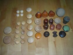 Mixed Lot Of 36 Vintage And New Wooden Drawer Cabinet Pulls Knobs Rustic More