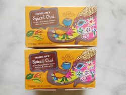 Trader Joe's Spiced Chai Assam Black Tea W/ Exotic Spices 2 Or 4 Boxes