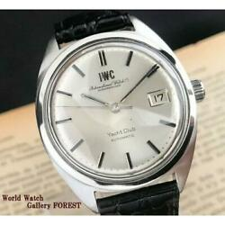 Yacht Club Cal 8541 Antique Old Inter Automatic Menand039s From Japan [a0510]
