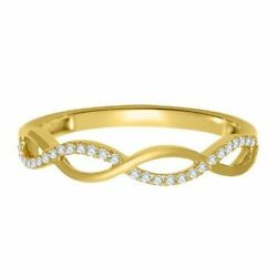 0.15ct. T.w. Simulated Diamond Twine Ring In 10k Gold