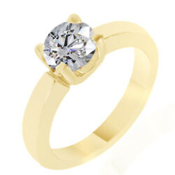 0.20 Ct Simulated Ideal Round Classic Ring 14k Yellow Gold