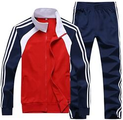 Nuomantic Menand039s Athletic Full Zip Jogging Tracksuit Casual Running Sweat Suits S