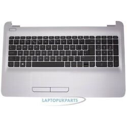 New Replacement For Hp 15-ac155ne Silver Palmrest Cover Keyboard With Touchpad