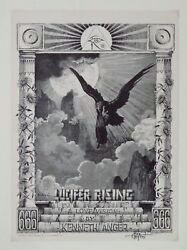 Lucifer Rising A Love Vision By Kenneth Anger 1967 Signed By Rick Griffin