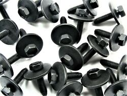Body Bolts- M6-1.0 X 25mm Long- 10mm Hex- 24mm Washer- 40 Bolts- Ld163f