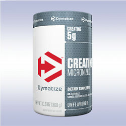 Dymatize Creatine Micronized 300 Grams Unflavored Monohydrate Iso 100