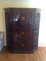 Ethan Allen Wooden Three-section Entertainment Center - Local Pickup Only