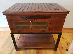 Vintage Antique Incubator Industrial Table Kitchen Island Workbench