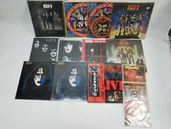 Used Kiss LP Board 11 Sheets EP 3 Records Total 14 Set Very Rare