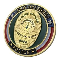 Us New Orleans Police Department Gold Plated Challenge Coin