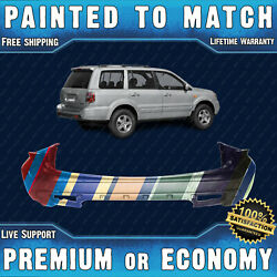 New Painted To Match - Rear Bumper Replacement For 2006 2007 2008 Honda Pilot
