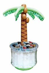 Palm Tree Cooler Inflatable Pool Beach Party Indoor Outdoor Bbq 5ft Gift New