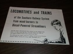 1970and039s Southern Railway Locomotives And Trains Poster