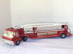Structo By Ertl Toys Vintage Hook And Ladder Toy Fire Truck Pressed Steel