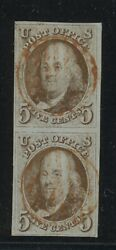 Us Scott 1 Vertical Pair Used-xf Perfect Red Cancels - Great Margins