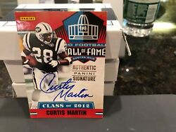 National Treasures On Card Autograph 2012 Hof Jets Curtis Martin 2012