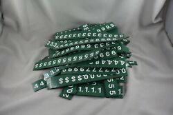 Large Lot Of Green Magnetic Menu Board Letters And Numbers 1-1/2h X 3/4w