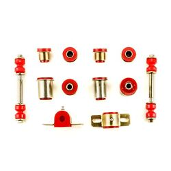 Red Poly Front End Suspension Bushing Set Fits 1968 1969 1970 Chevrolet Chevelle